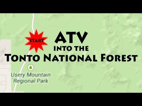 Meridian RV Resort ATV'ers Into The Tonto National Forest, Arizona