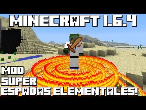 Minecraft 1.6.4 MOD SUPER ESPADAS ELEMENTALES!