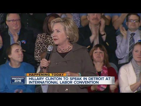 Hillary Clinton heads to Detroit Monday