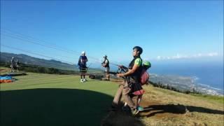 Parapente à la Réunion - Décollage biplace
