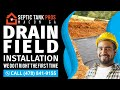 Drain Field Installation Cochran GA | Call (478) 841-9155
