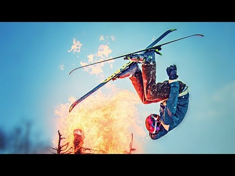 Snow Jump through Flaming Christmas Trees