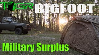 Backroads - Military Surplus Overnight Adventure - (Bigfoot ???)