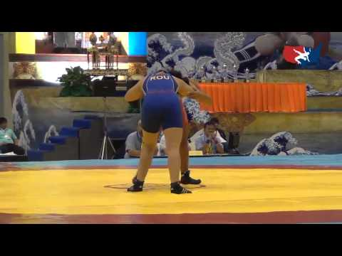 2012 Junior Worlds - FW 63kg - Alli Ragan (USA) vs. Laura Gavruliuc (ROU)
