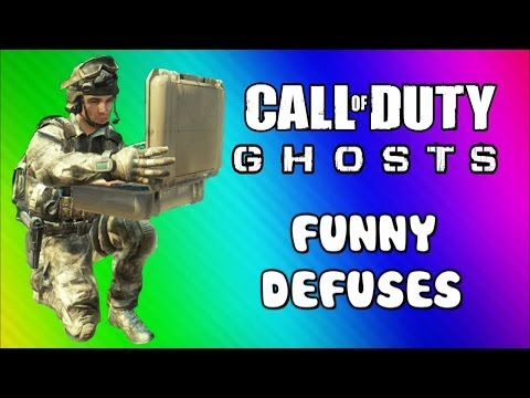 COD Ghosts Ninja Defusing & Riot Shield Fun (Funny Moments, Trap Defuses, Squadmate, & Fails)
