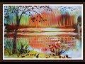 Осенний пейзаж поэтапно для детей Нетрадиционная техника mp3