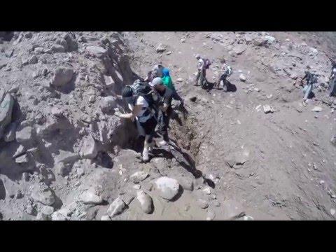 Mirá el alud que casi mata a turistas en el cerro Aconcagua
