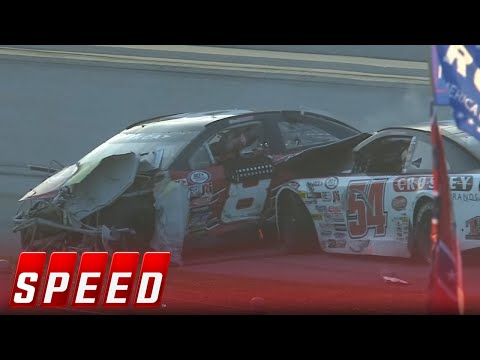 Chase Purdy & Bo LeMastus involved in heavy wreck on final lap I 2018 ARCA RACING SERIES