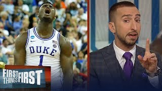 Nick Wright evaluates Zion Williamson's clutch game as Duke survives UCF | CBB | FIRST THINGS FIRST