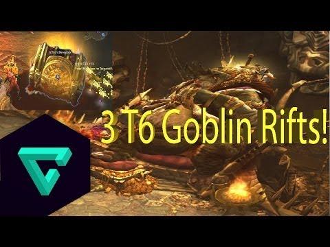 Diablo III - Reaper of Souls T6 3 Goblin Rifts! 20 legendaries, 350M gold!