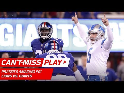 Matt Prater's Dramatic 56-Yard Field Goal with a Perfect Bounce! | Can't-Miss Play | NFL Wk 2