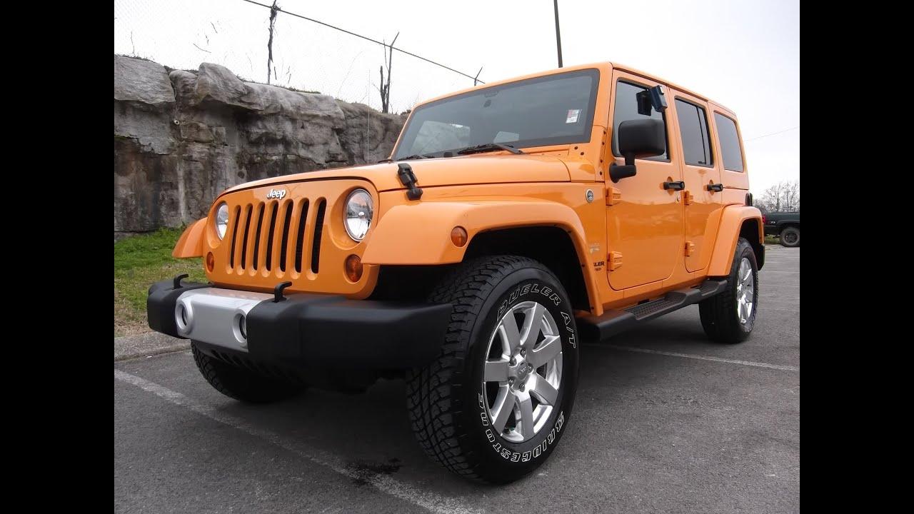 2013 Jeep Wrangler 4 Door Soft Top SOLD.2012 JEEP WRANGLER SAHARA UNLIMITED DOZER COLOR 12K ...