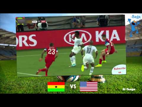 Ghana vs USA 1-2  All Goals Highlights ~Fifa World Cup 2014 (English)
