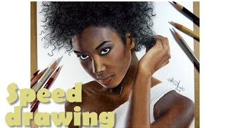 Drawing A Dark-Skinned Model (Tiguida Sissoko) / Hot To Draw Dark Skin