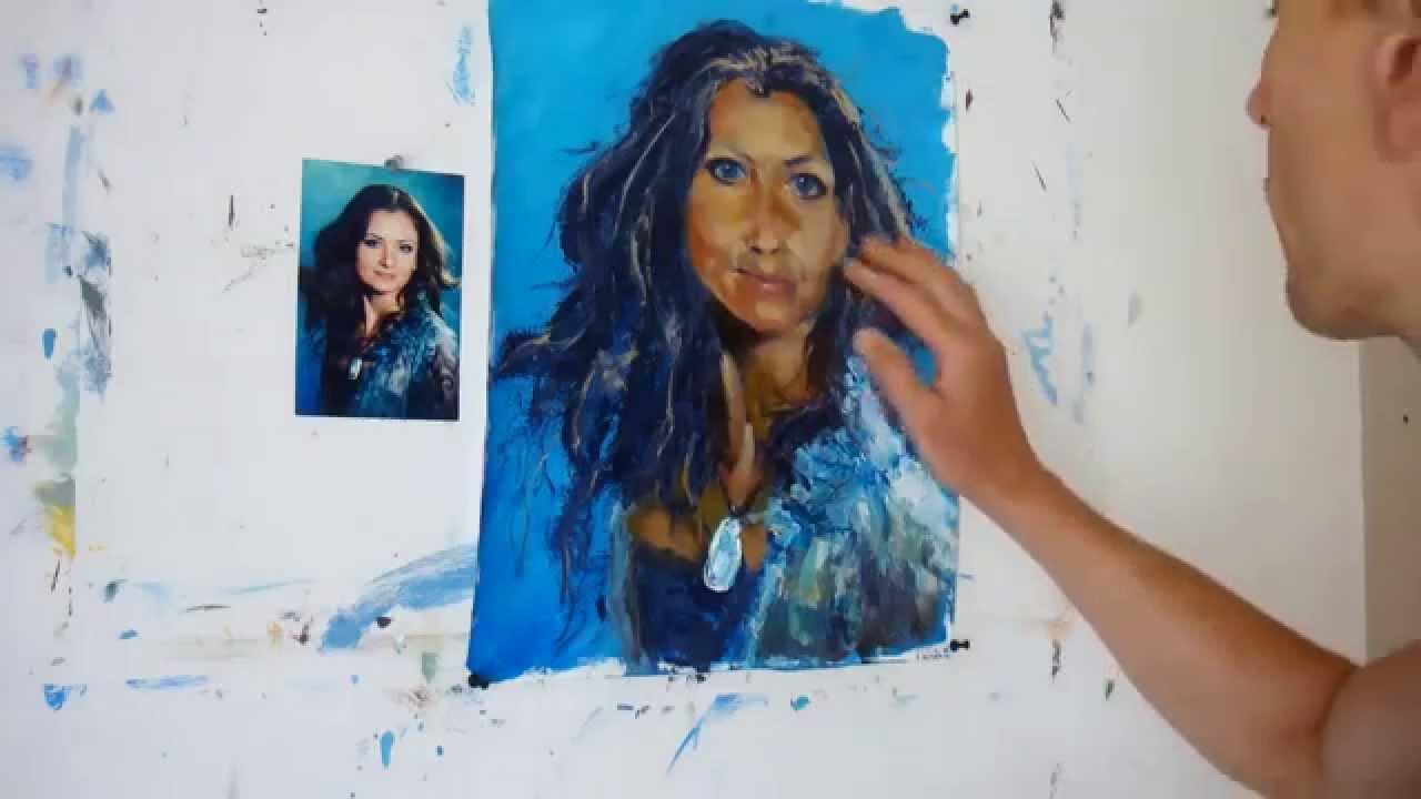 Научится рисовать маслом портрет