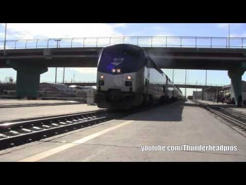 [HD] Amtrak's Southwest Chief arrival and operations- Albuquerque, NM