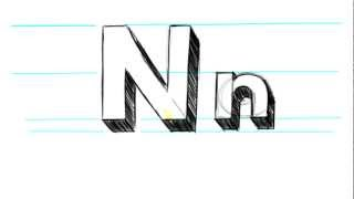 M Alphabet In 3d How to Draw 3D Letters N - Uppercase N and Lowercase n in 90 Seconds ...
