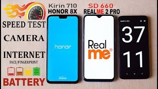 HONOR 8X VS REALME 2 PRO   #Speed Test#Camera#BAttery Drain Charge#INTERNET