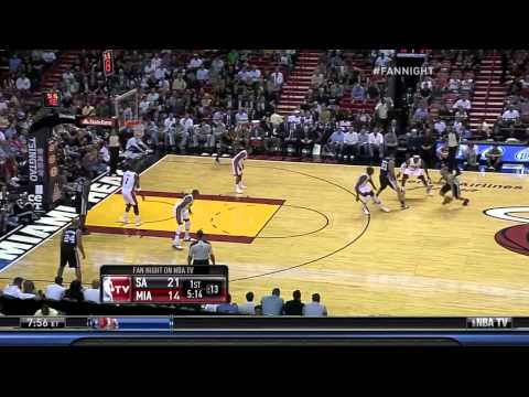 Spurs @ Heat: Tony Parker Early, LeBron James Late