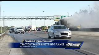 Truck fire causes traffic problems on Florida Turnpike