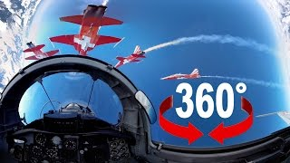 360° fighter jet | Takeoff and formation flight | Swiss Air Force