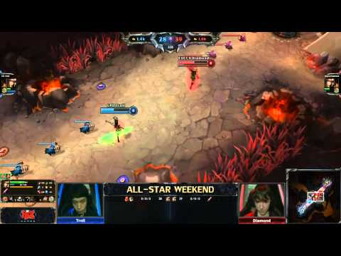 2013 ALL-STAR LoL 1v1 junglers (Troll) vs (Diamond)