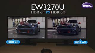 "BenQ EW3270U 32"" 4K HDR Gaming Monitor with B.I.+  - HDR Comparison Demo Video"