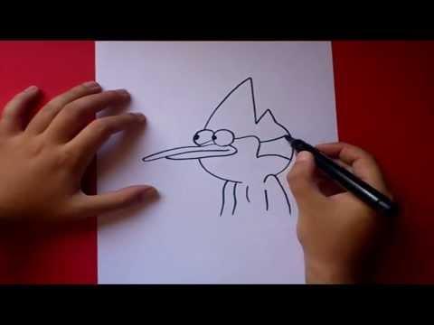 Como dibujar a Mordecai paso a paso - Un show mas   How to draw...