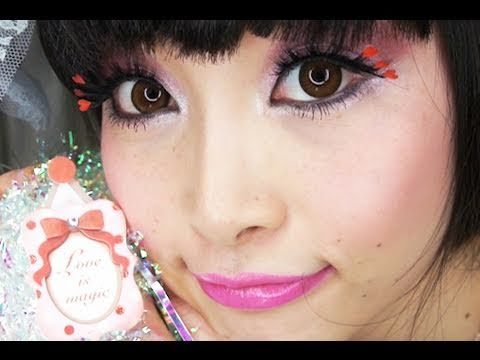Super Cute Valentine 39s Makeup stickers on lashes