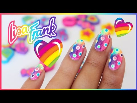 ♥Lisa Frank♥ Rainbow Nail Art
