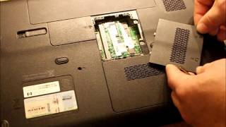 How to Change the Hard Drive and RAM on a HP G60 Laptop