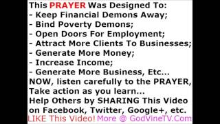 POVERTY CURSE NO MORE. Financial Curse Breaking PRAYER, by Brother Carlos