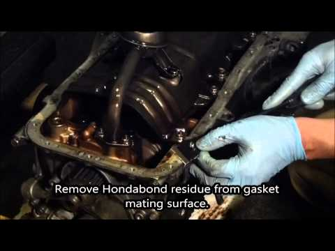 HOW TO:  Acura Integra Oil Pan Gasket Installation b16. b18. b20 using myHondaHabit Kit