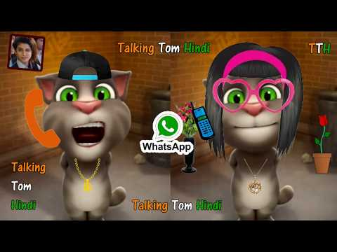 Talking Tom Hindi - GF vs BF Funny Comedy Videos.