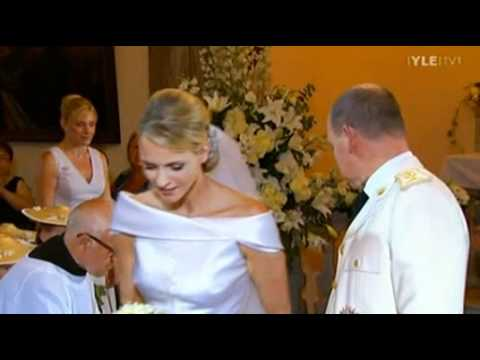 Prince Albert II and Princess Charlene of Monaco leaving the Bouquet after the Wedding 2.7.2011