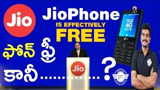 Jio Phone Launched For Free How to Buy & Plans Detailsll in telugu ll by prasad ll