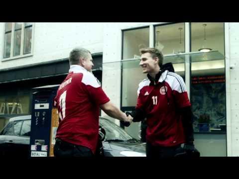Nicklas Bendtner og Christian Eriksen - Jersey Swap