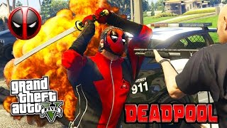 GTA 5 PC Mods - DEADPOOL MOD w/ SWORD & PARKOUR! GTA 5 Deadpool Mod Gameplay! (GTA 5 Mods Gameplay)