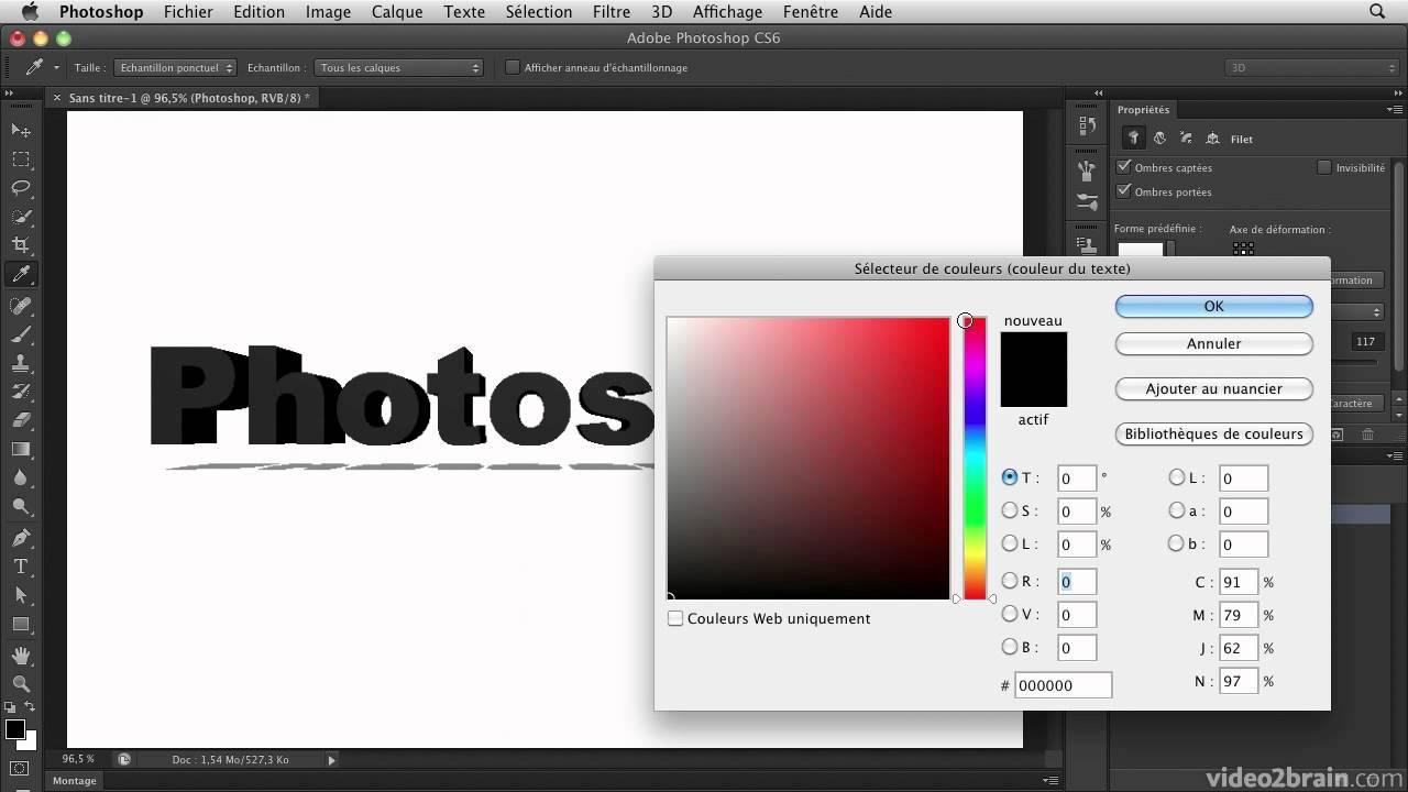 Photoshop cs6 nouvelle interface et rendu des ombres en for Effet miroir photoshop