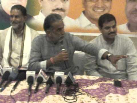 Press Conference By Minister & Faridabad MP Krishanpal Gurjar