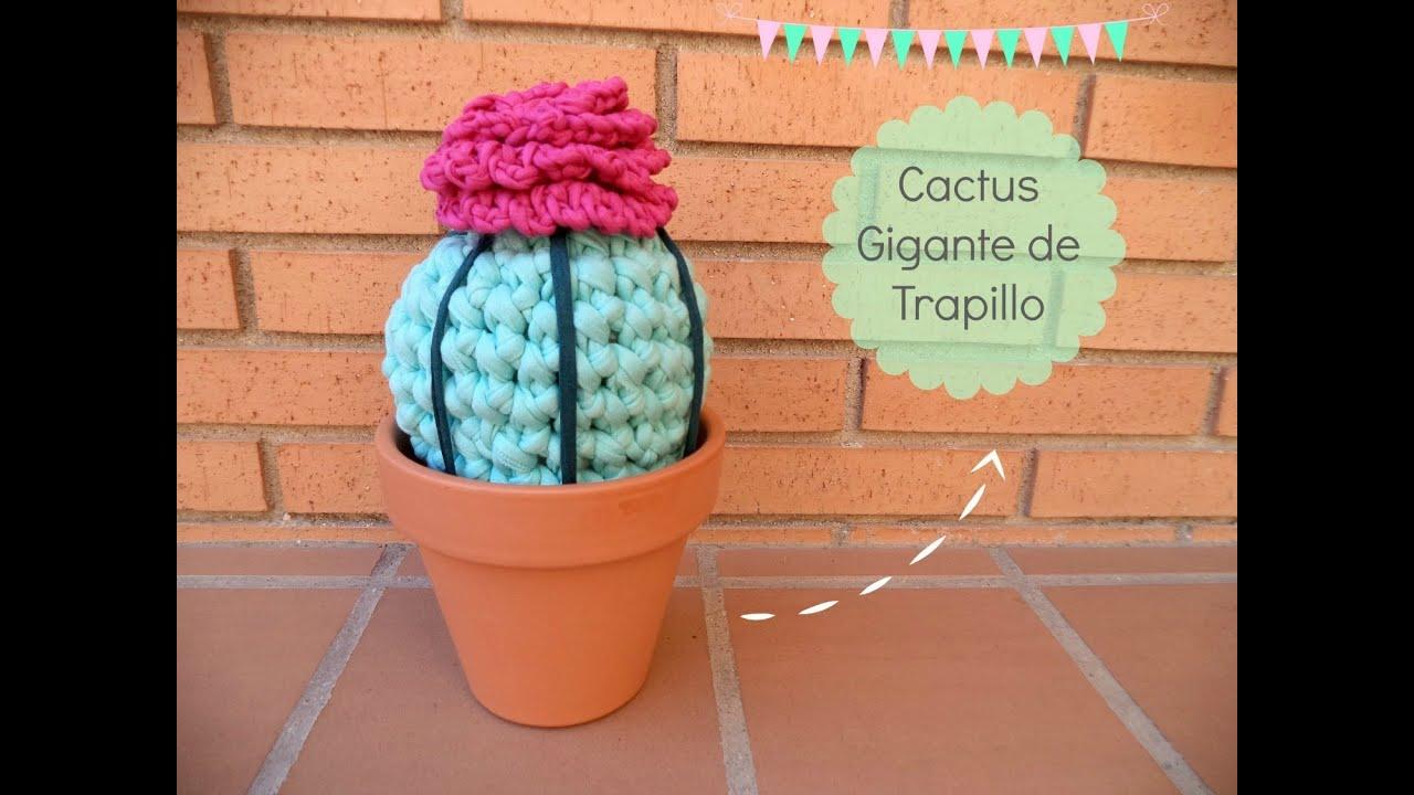 C mo hacer un cactus de trapillo tutorial paso a paso - Como hacer trapillo ...