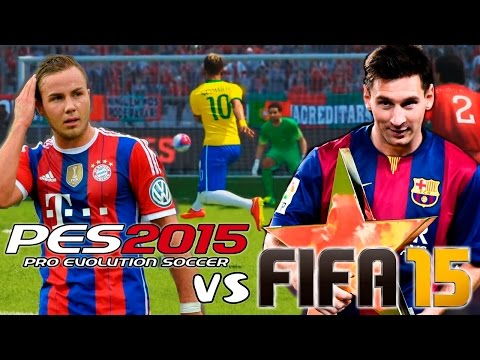 FIFA 15 vs PES 2015   Gameplay + Info