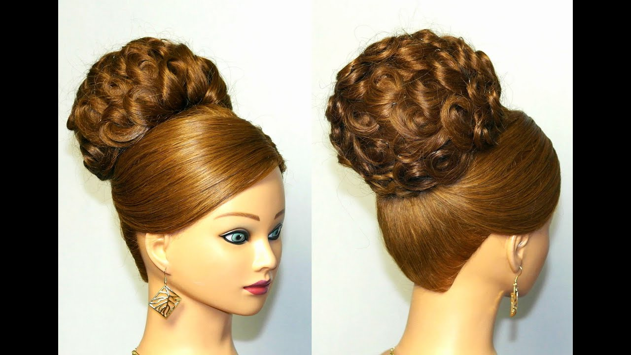 Elegant Wedding Updo Hairstyle For Long Hair Youtube