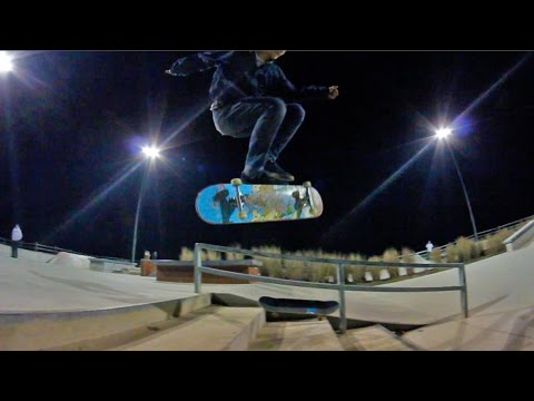 Skateboarding Head Smack and Session