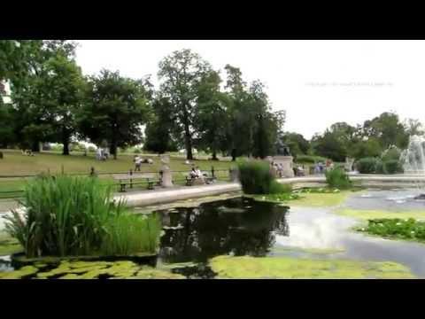 Hyde Park - Walk around the italian Gardens in Kensington Gardens in London 2