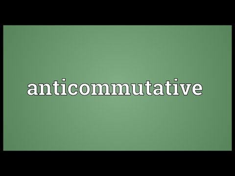 Header of anticommutative