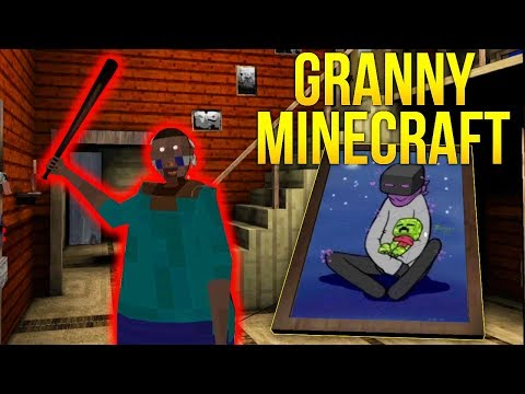 БАБКА ГРЕННИ ХИРОБРИН! MINECRAFT GRANNY HEROBRINE! - Granny