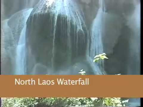 Waterfall in Northern Laos. Hidden beauty in the hill tribes Video