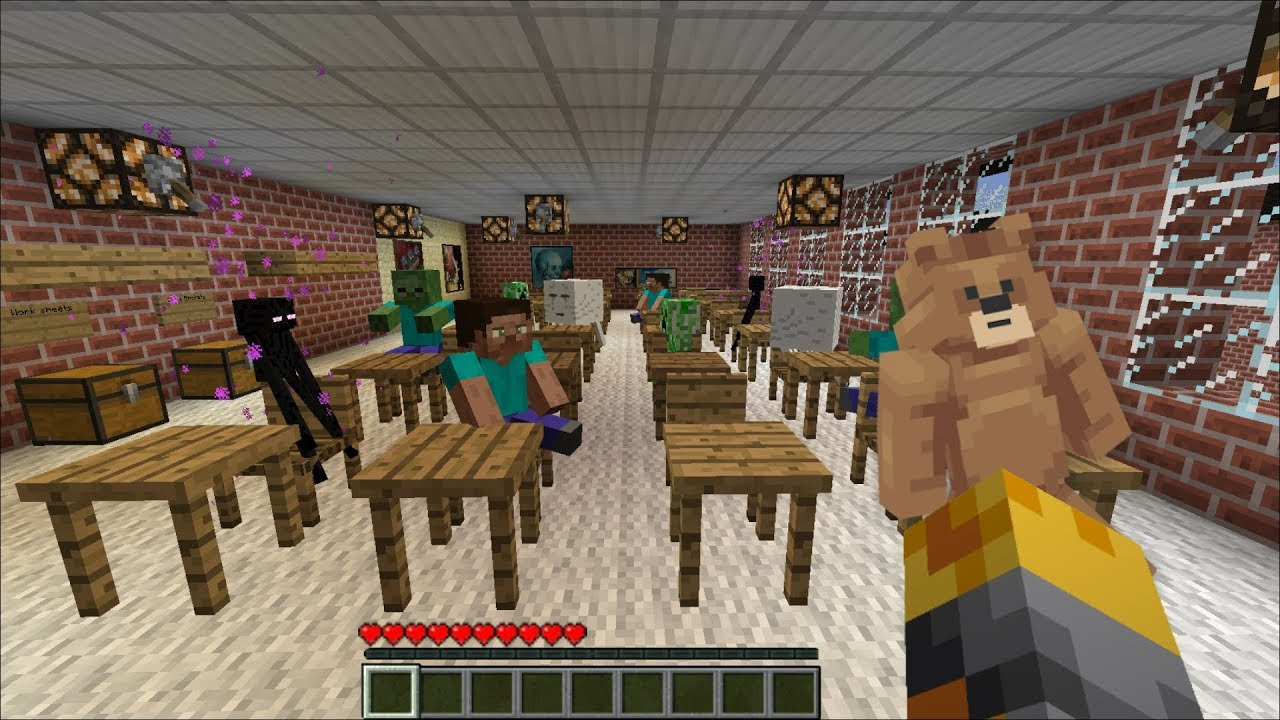 Minecraft BABY DAYCARE MOD / SPAWN BABY MOBS AND WATCH THEM EDUCATE !! Minecraft