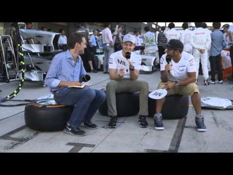 Rosberg and Hamilton interview @ BBC 2013 F1 Japanese GP